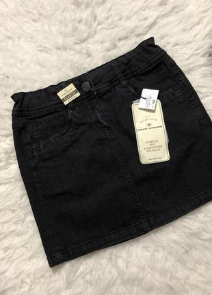 Джинсовая чёрная юбка tom tailor