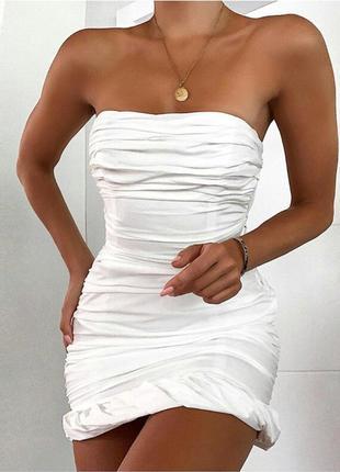 Белое платье со стяжками missguided