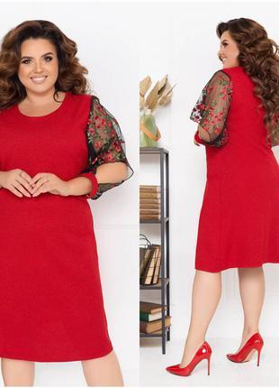 Платье  с лёгким блеском до 66 размера