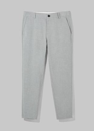 Серые брюки bershka