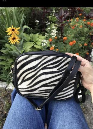 Новая кожаная сумка кросс боди