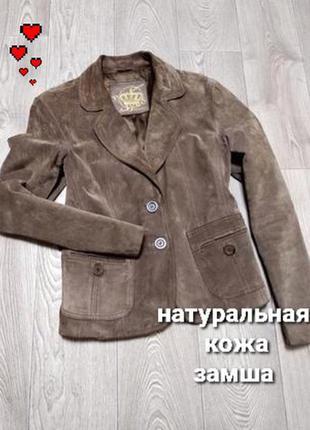 Новый базовый кожаный замшевый пиджак жакет куртка new look