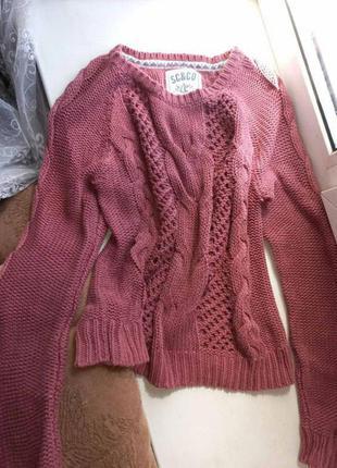 Свитер вязаный, тёплый свитер