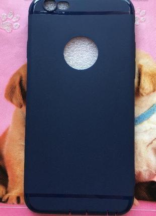 Новый чехол айфон 6/ 6s iphone синий силиконовый матовый классический