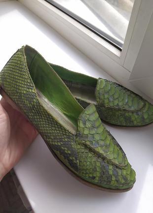 Кожанные туфли  made italy