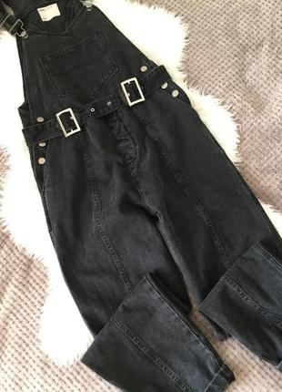 Комбинезон джинсовый графит asos размер 8