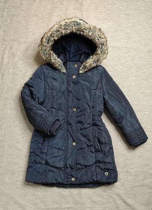 Теплая демисезонная удлиненная куртка , пальто jasper conran на 5- 6 лет,