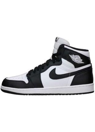 Кроссовки женские nike air jordan высокие черные белые / кросівки жіночі найк аир джоран кроссы