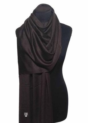 Хлопковый шарф палантин хлопок коричневый горький шоколад демисезонный легкий однотонный новый