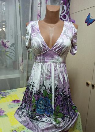 Платье масло в стразах