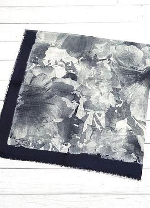Платок модный осенний на голову на шею серый