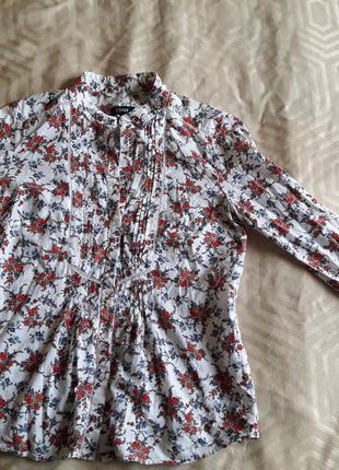 Рубашка-блузка в цветочный принт