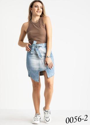 Стильная джинсовая юбка, т029