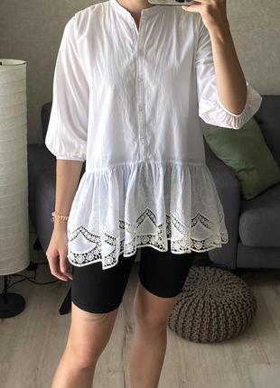 Натуральная удлиненная рубашка reserved