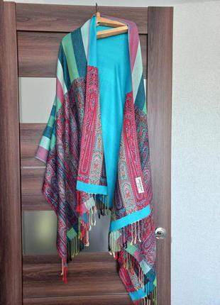 210×75 кашемир 100% большой палантин шарф пашмина