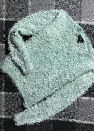 Женская кофта (свитер, травка) topshop ( топшоп с-мрр идеал оригинал бирюзовая)