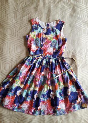 Разноцветное платье h&m