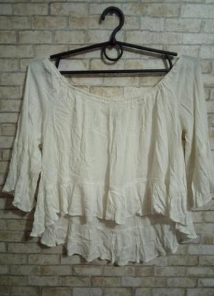 Блуза  кроп-топ спущенные плечи