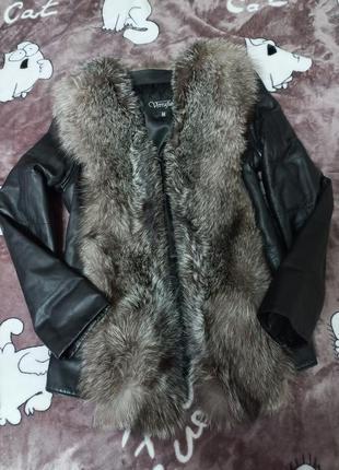 Кожанная куртка жилет 44-46