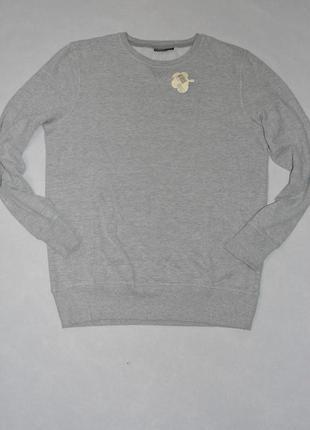 Свитшот мужской базовый серый с начесом livergy размер 48-50