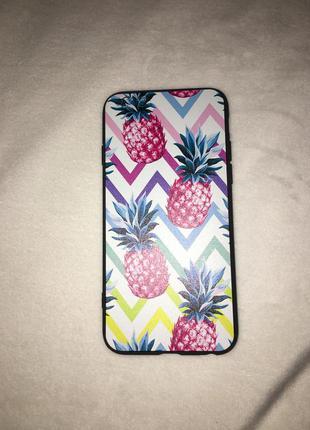 Новый чехол на айфон 6/6s iphone с ананасами разноцветный