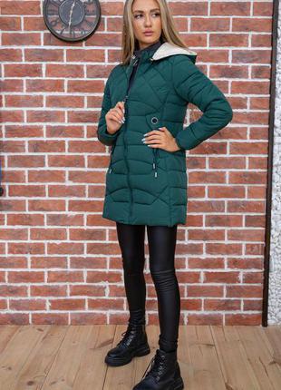 Куртка женская цвет зеленый, бордовый, черный