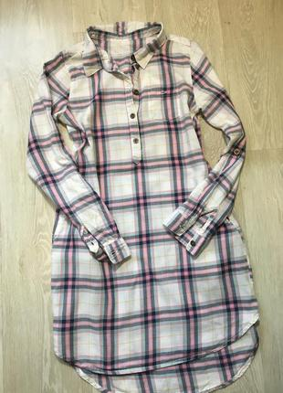 Практичное платье-рубашка h&m