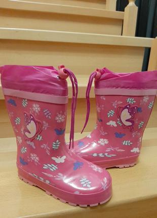 Резинові чобітки з утепленням/ сапоги резиновые детские/ гумачки дитячі