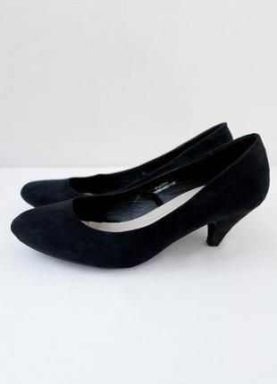 """Классические черные туфли лодочки """"dunnes"""". размер uk5/ eur38."""