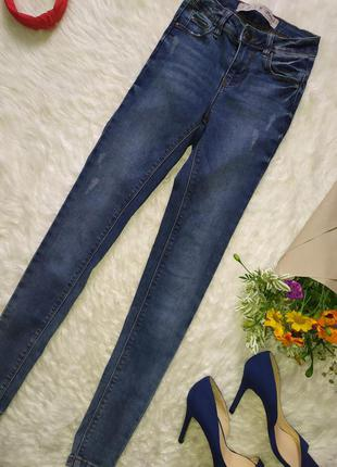 Синие джинсы скинни размер xxs xs бренд denim co