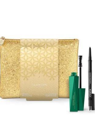 Набір: туш + олівець + брендова косметичка kiko milano