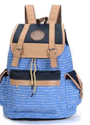 Стильный вместительный тканевый рюкзак