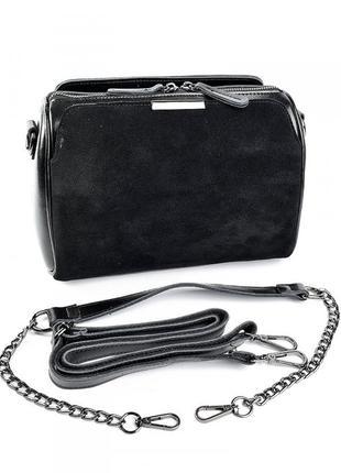 Женская кожаная сумка клатч кожаный шкіряна жіноча сумочка