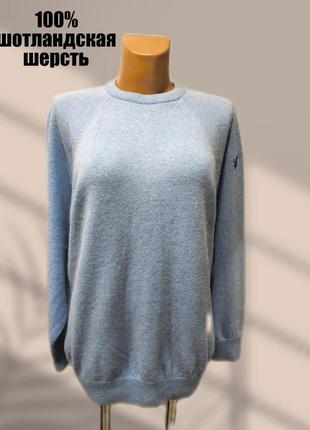 Шерстяной (шотландская шерсть) свитер оверсайз lyle&scott
