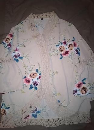 Кардиган блуза женская без пуговиц.