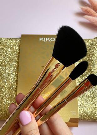 💛набір із трьох кісточок та брендової косметички kiko milano