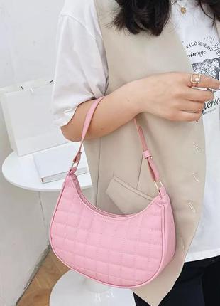 Сумка сумочка клатч месяц розовая рожева маленькая винтаж ретро