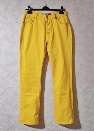 Жёлтые джинсы из натурального денима, ms&co, 33 р, винтаж 90-е