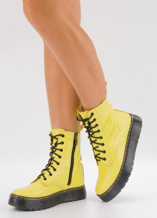 Ботинки желтые на платформе