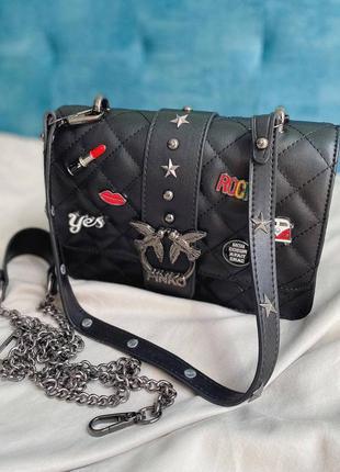 Шикарная женская сумка pinko черная