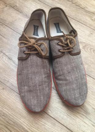 Легкие классные текстильные туфли с испании ,45 р