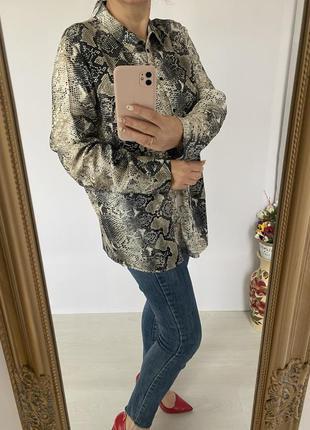 Новенька блуза сорочка в анімалістичний принт