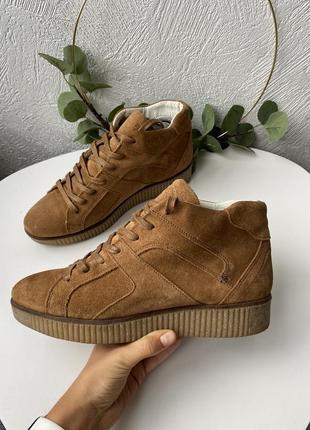 Кожаные кроссовки ботинки bullboxer