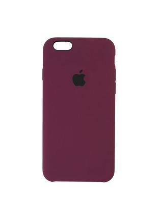 Чохол silicone iphone 6s plus (бордовий)
