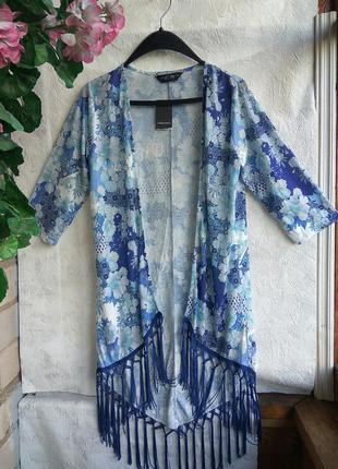 Dorothy-perkins кардиган кофта накидка бахромою квіти