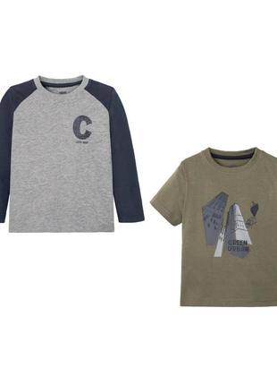 Реглан и футболка набор комплект для мальчика lupilu германия
