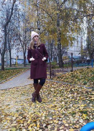 Пальто халат шерсть вовна