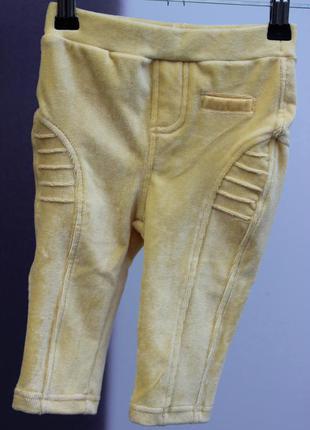 Желтые вельветовые штанишки resreved