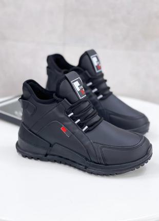 Осень зима хайтопы женские чёрные кеды кроссовки  ботинки жіночі хайтори кеди кросівки чорні