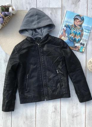 Куртка эко кожа тёплая h&m